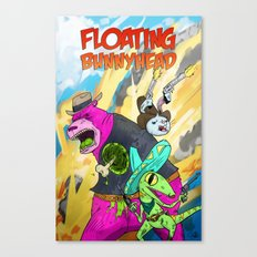 Floating BunnyHead Western Action  Canvas Print