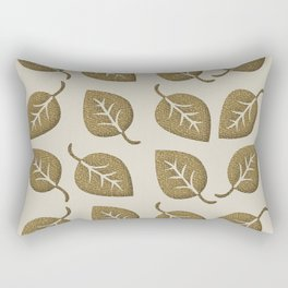 Gold Leaf Pattern Rectangular Pillow