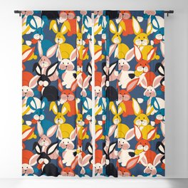Rabbit colored pattern no2 Blackout Curtain