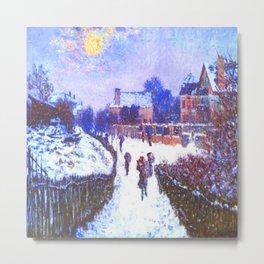Monet Boulevard Saint Denis Winter Metal Print