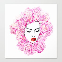 Lady of the flowers. Canvas Print