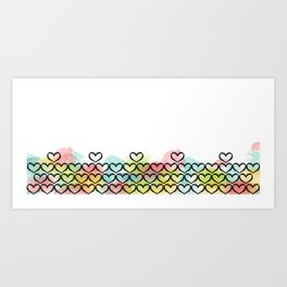 Watercolour Heart Art Print