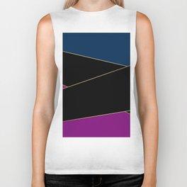 Angelica . Blue , black  , purple Biker Tank