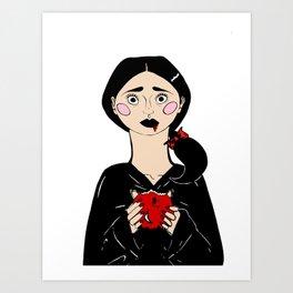 Snow White's Last Bite Art Print