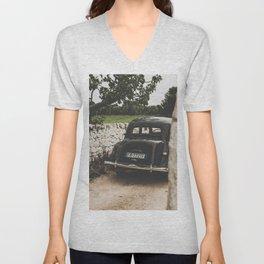 Citroën traction avant, Apulia photography, vintage car, old cars, sports car, Puglia photography Unisex V-Neck