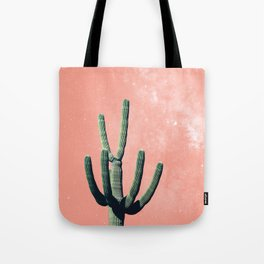 Pink Cactus Boho Mexican Tote Bag