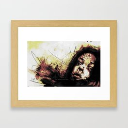 before a kiss Framed Art Print