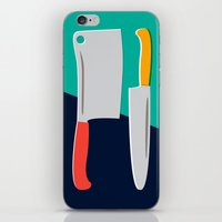 chef iPhone & iPod Skins featuring Chef Knives by Sam Osborne