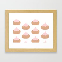 Ice Gem Pink Framed Art Print
