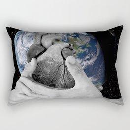 J'ai le mal de toi (I ache for you, I miss you so much it hurts) Rectangular Pillow