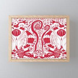 Double Dragons Framed Mini Art Print