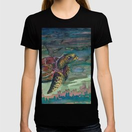 sea turtle watercolor T-shirt