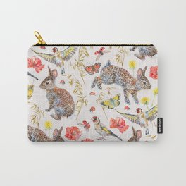Bunny Meadow Pattern Carry-All Pouch