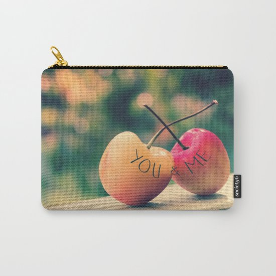 You & Me (Rainier Cherries with Green Bokeh Background) Carry-All Pouch