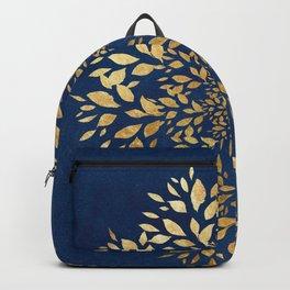 Gold Leaves Mandala Backpack
