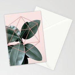 Geometric greenery III Stationery Cards
