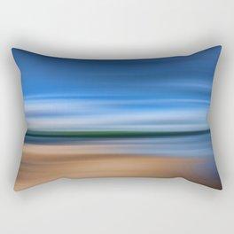 Beach Blur Painted Effect Rectangular Pillow