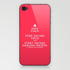 Keep Calm Forget YOLO iPhone & iPod Skin
