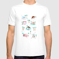 Summer houses White MEDIUM Mens Fitted Tee
