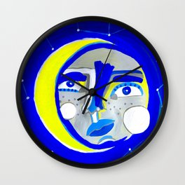 Face of the moon Wall Clock