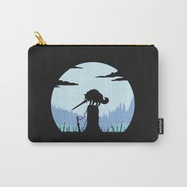 Grey Wolf Sif (Dark Souls) - in black Carry-All Pouch