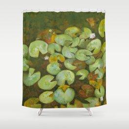 Lotus Pond Serenity Series IV Shower Curtain