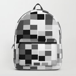Grayscale Squares Backpack