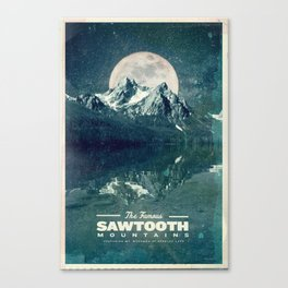 Sawtooths: Stanley Lake Canvas Print