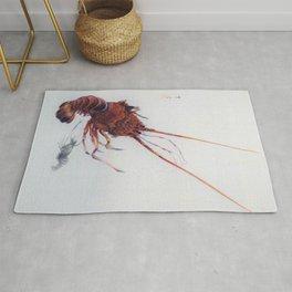 12,000pixel-500dpi - Watanabe Seitei - Shrimp and Lobster - Digital Remastered Edition Rug