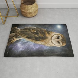 Wise Old Owl - Bird Art Rug