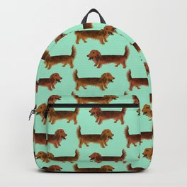Long-haired dachshunds Backpack