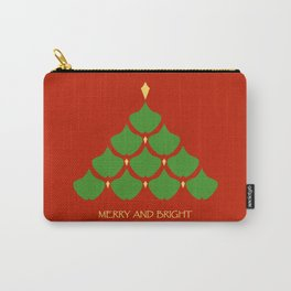 Merry and Bright Ginkgo Christmas Tree Carry-All Pouch