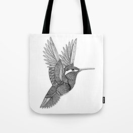 Hummingbird Zentangle Tote Bag