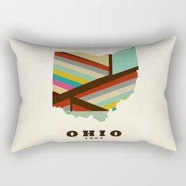 Ohio state map modern Rectangular Pillow