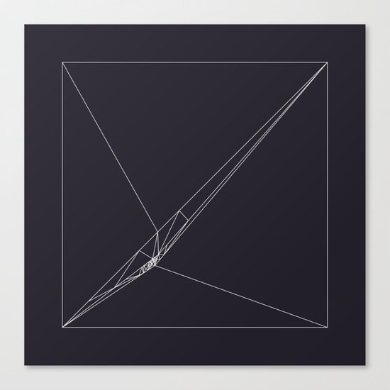 #115 Rip – Geometry Daily Canvas Print