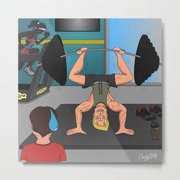 The Gym Junkie Metal Print