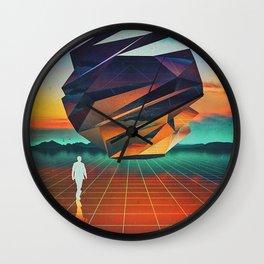 Prospect     surreal, surrealism, digitalart, digitalcollage, graphicdesign, scifi, scifiart, collag Wall Clock
