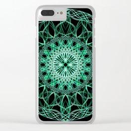 Luminous Knot Mandala Clear iPhone Case