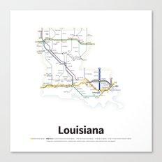 Highways of the USA – Louisiana Canvas Print