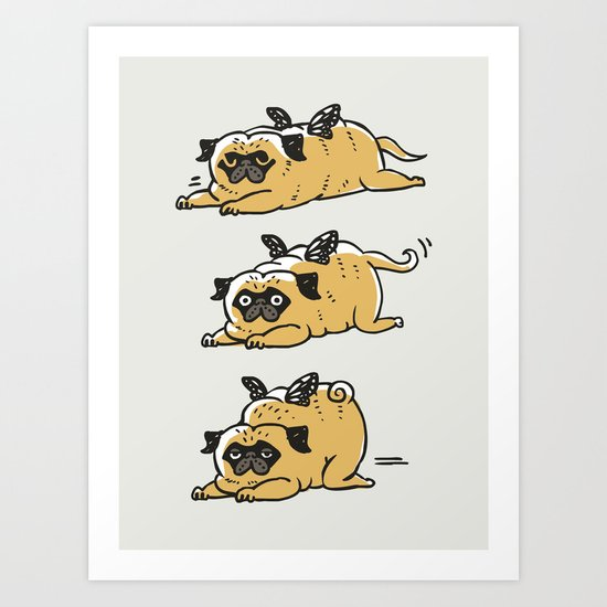 Puggerpillar Art Print