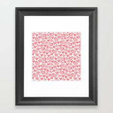 MESSY HEARTS: PEACHY Framed Art Print