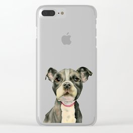 Puppy Eyes Clear iPhone Case