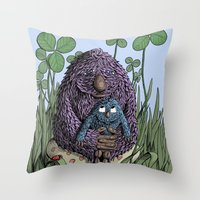 mom Throw Pillows featuring Mom by David Comito