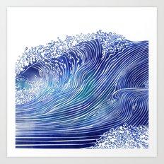 Pacific Waves Art Print