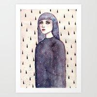 Drops Art Print