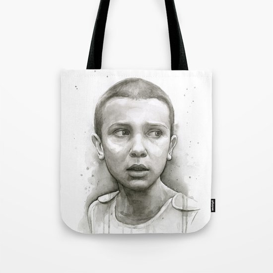 Stranger Things Eleven Portrait Upside Down Tote Bag