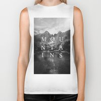 the mountains are calling Biker Tanks featuring The Mountains Are Calling by okalova