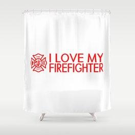 Firefighter: I Love My Firefighter (Florian Cross) Shower Curtain