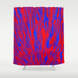 rising red and blue Shower Curtain