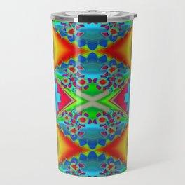 Flowers Colours QR Travel Mug